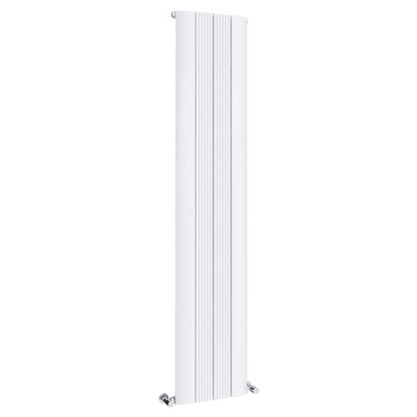 Toronto Aluminium White 1800 x 375mm Tall Vertical Radiator - 4 Sections