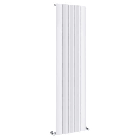 Toronto Aluminium White 1800 x 470mm Tall Vertical Radiator - 5 Sections
