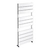 Quebec Aluminium White 1150 x 500mm Vertical Radiator - 10 Sections profile small image view 1