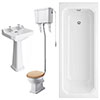 Winchester High Level Toilet Bathroom Suite profile small image view 1