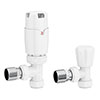 Apollo Modern White Angled Thermostatic Radiator Valves Small Image