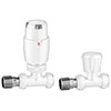 Apollo Modern White Straight Thermostatic Radiator Valves profile small image view 1