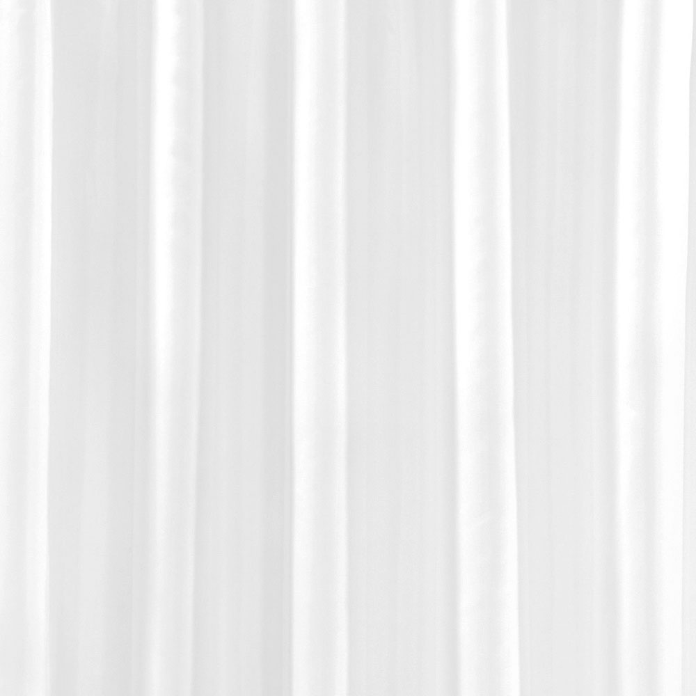 White W1800 x H2000mm Polyester Shower Curtain