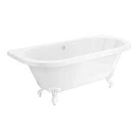Admiral 1685 Back To Wall Roll Top Bath + White Leg Set