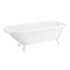 Bromley 1780 Single Ended Roll Top Bath + White Leg Set profile small image view 1