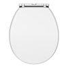 Chatsworth White Soft Close Toilet Seat profile small image view 1