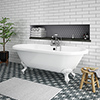 Duke 1795 Traditional Roll Top Bath + White Leg Set profile small image view 1