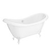 Earl 1750 Double Ended Roll Top Slipper Bath + White Leg Set profile small image view 1