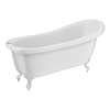 Oxford 1710 Roll Top Slipper Bath + White Leg Set profile small image view 1