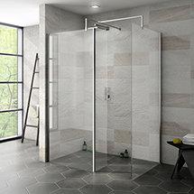 Nova 1400 x 900 Wet Room (Inc. Screen, Side Panel + Return Panel) No Tray Medium Image