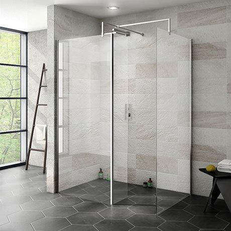 Nova 1400 x 900 Wet Room (Inc. Screen, Side Panel + Return Panel) No Tray