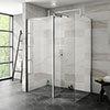 Nova 1400 x 900 Wet Room (Inc. Screen, Side Panel + Return Panel) No Tray profile small image view 1
