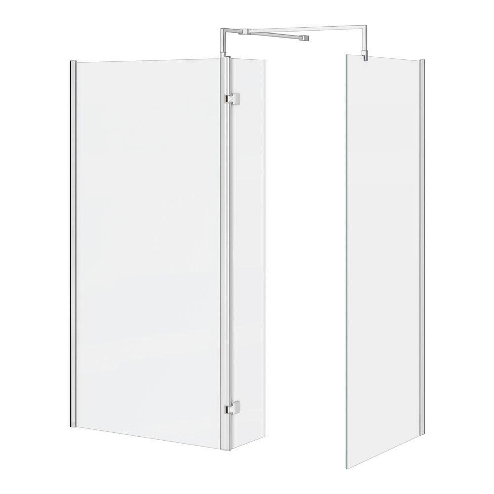 Nova 1600 x 800 Wet Room (inc. Screen, Side Panel + Return Panel) No Tray