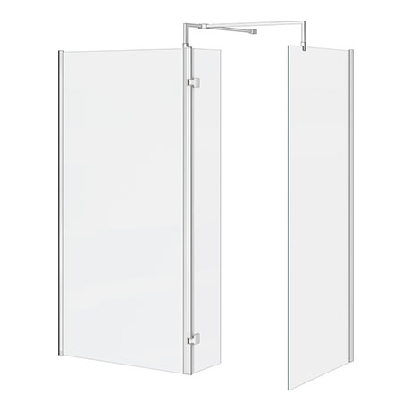 Nova 1600 x 800 Wet Room (Inc. Screen, Side Panel + Return Panel) No Tray