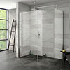 Nova 1600 x 800 Wet Room (Inc. Screen, Side Panel + Return Panel) No Tray Medium Image