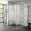 Nova 1600 x 800 Wet Room (Inc. Screen, Side Panel + Return Panel) No Tray profile small image view 1