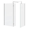 Nova 1600 x 800 Wet Room (Inc. Screen, Side Panel + Return Panel) No Tray profile small image view 1