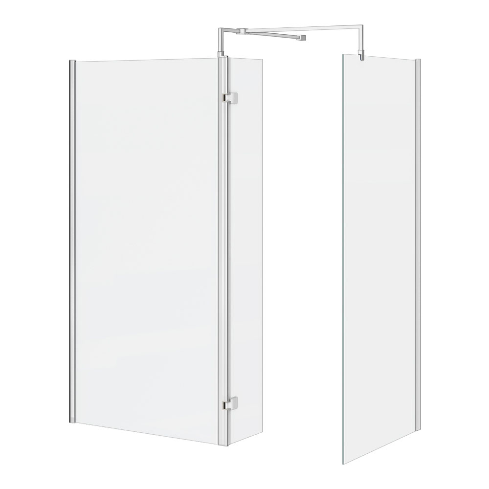 Nova 1700 x 800 Wet Room (inc. Screen, Side Panel + Return Panel) No Tray