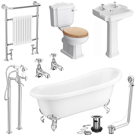 Winchester Traditional Complete Bathroom Package 1710mm At