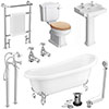 Winchester Traditional Complete Roll Top Bathroom Package (1710mm) profile small image view 1