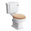 Winchester Close Coupled Traditional Toilet with Beech Toilet Seat profile small image view 1