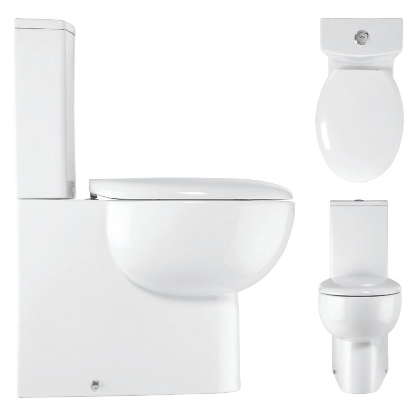 Bauhaus - Wisp Close Coupled Toilet with Soft Close Seat Profile Large Image