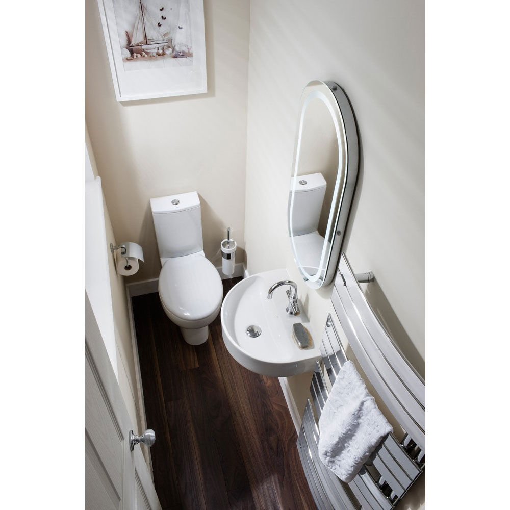 Bauhaus - Wisp Close Coupled Toilet with Soft Close Seat Feature Large Image