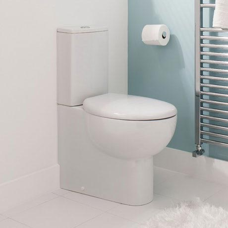 Bauhaus - Wisp Close Coupled Toilet with Soft Close Seat