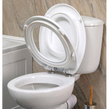 Croydex Safeflush Toilet Seat - White - WL110922H Profile Large Image
