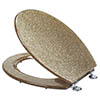 Croydex Gold Glitter Toilet Seat - WL134103 profile small image view 1