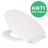 Croydex Anti-Bacterial Polypropylene Toilet Seat with Slow-Close Hinge - White profile small image view 1