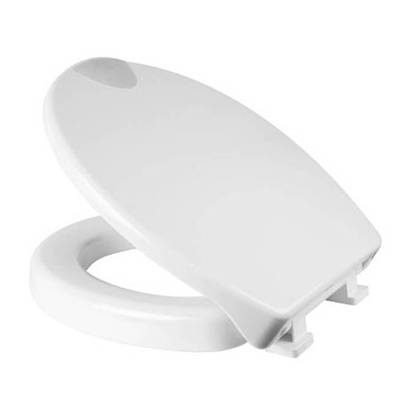 Croydex Raised White Toilet Seat - WL400522H
