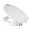 Croydex Raised White Toilet Seat - WL400522H profile small image view 1