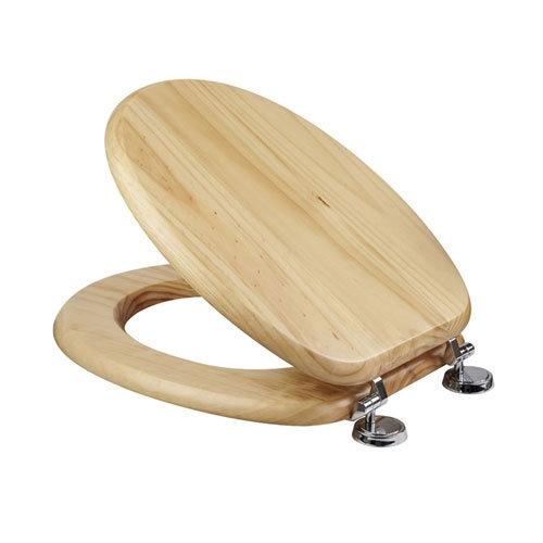 Croydex Sit Tight Douglas Blonded Pine Toilet Seat - WL530671H Large Image