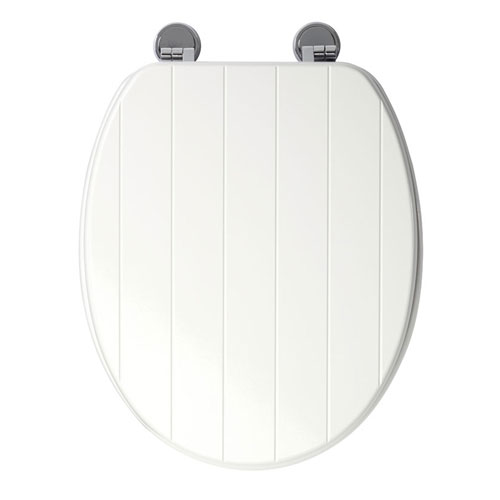 Croydex Sit Tight New England White Toilet Seat - WL530822H profile large image view 2