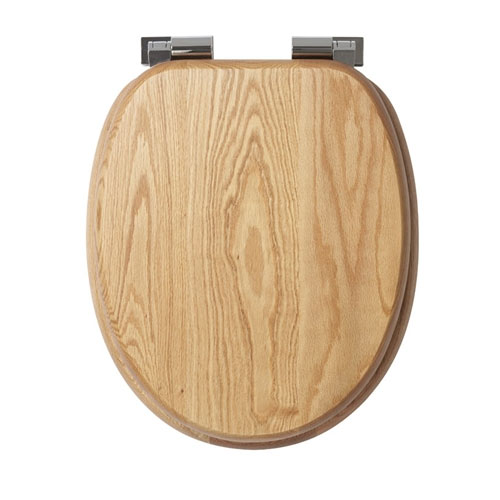 Croydex Sit Tight Bloomfield Solid Oak Soft Close Toilet Seat - WL531176H profile large image view 2