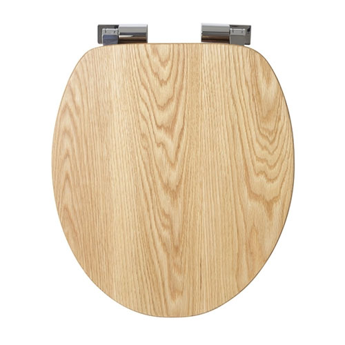 Croydex Sit Tight Fitzroy Solid Oak Soft Close Toilet Seat - WL531276H profile large image view 2