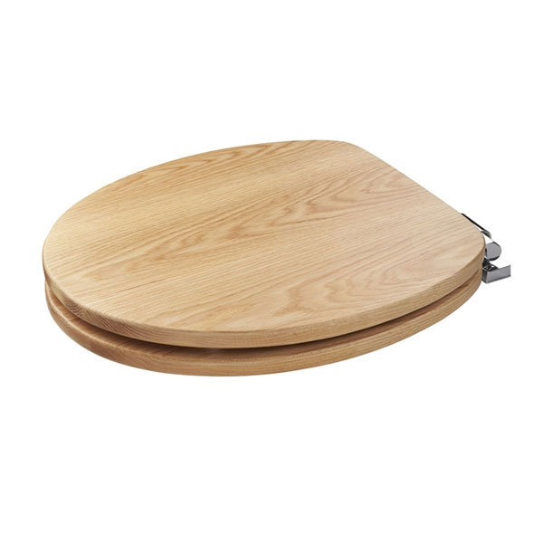 Croydex Sit Tight Fitzroy Solid Oak Soft Close Toilet Seat - WL531276H profile large image view 3