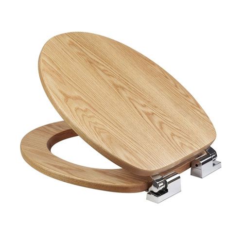 Croydex Sit Tight Fitzroy Solid Oak Soft Close Toilet Seat - WL531276H Large Image