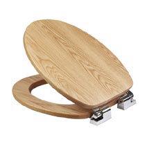 Croydex Sit Tight Fitzroy Solid Oak Soft Close Toilet Seat - WL531276H Medium Image