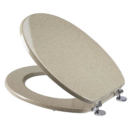 Croydex Sandstone Effect Moulded Wood Toilet Seat - WL532415