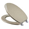 Croydex Sandstone Effect Moulded Wood Toilet Seat - WL532415 profile small image view 1