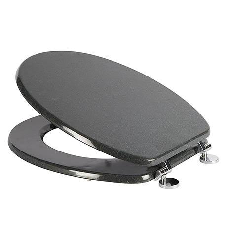 Croydex Granite Effect Moulded Wood Toilet Seat - WL532431