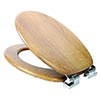 Croydex Sit Tight Watson Teak Effect Soft Close Toilet Seat - WL533386 profile small image view 1