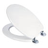 Croydex Flexi-Fix Kielder White Anti-Bacterial Toilet Seat - WL600822H profile small image view 1