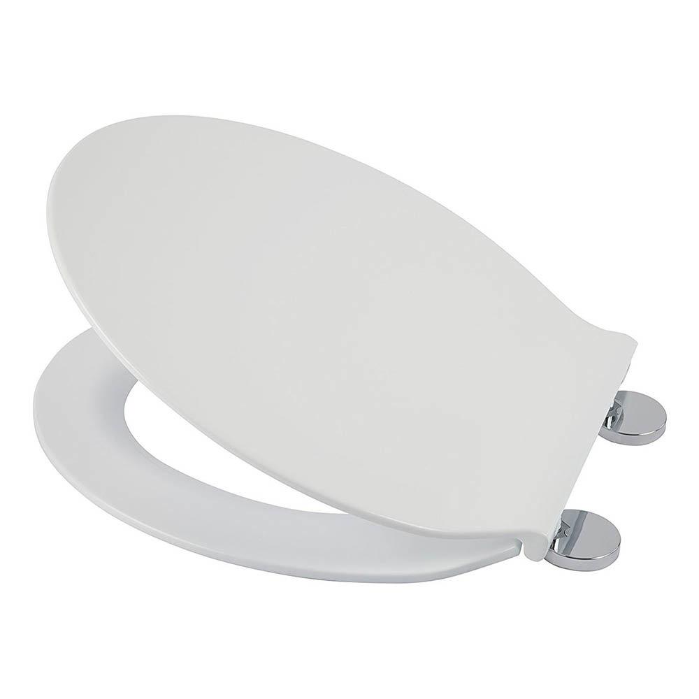 Croydex Flexi-Fix Victoria White Anti-Bacterial Toilet Seat - WL601322H