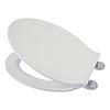 Croydex Flexi-Fix Victoria White Anti-Bacterial Toilet Seat - WL601322H profile small image view 1