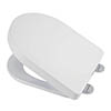 Croydex Flexi-Fix Eyre D-Shape White Anti-Bacterial Toilet Seat with Soft Close and Quick Release - WL601522H profile small image view 1