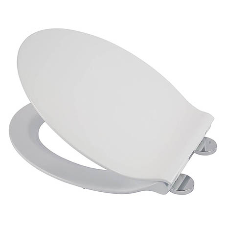 Croydex Flexi-Fix Michigan White Anti-Bacterial Toilet Seat with Soft Close and Quick Release - WL60