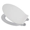 Croydex Flexi-Fix Michigan White Anti-Bacterial Toilet Seat with Soft Close and Quick Release - WL601622H profile small image view 1